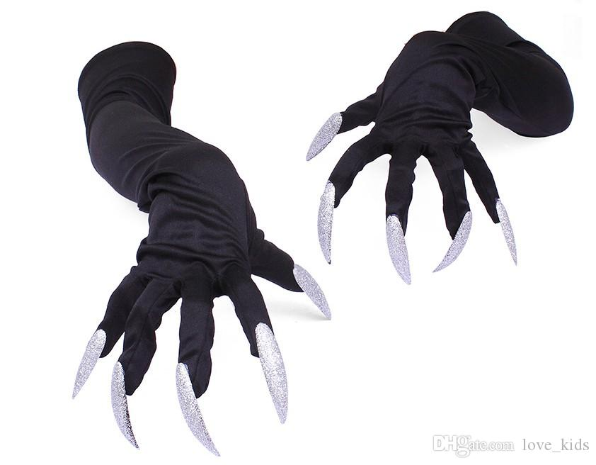 Long nails gloves Halloween hollowen cosplay props suits hand sleeves paw performance cuffs women men