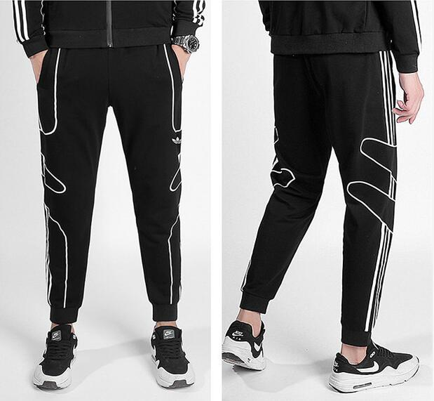 WWW71626 black trousers long High Quality Jogger Pants Men Fitness Bodybuilding Gyms Pants For Runners Brand Clothing Autumn Trousers