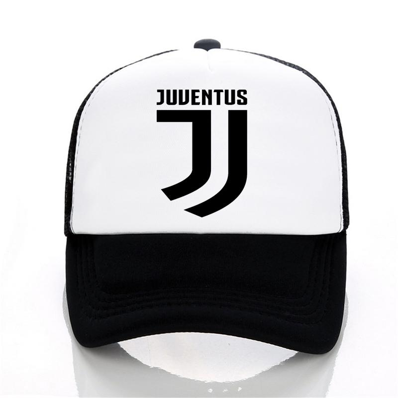1496d20bd3 Juventus Print Baseball Caps Summer Adjustable Mesh Cap Fans Club Trucker  Cap Casual Italian Gianluigi Buffon Tees Hats Flat Brim Hats Baby Cap From  ...