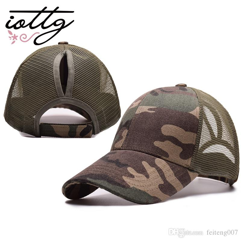 6cc97c4f5e3 2019 IOTTG 2018 New Arrival Ponytail Baseball Cap Women S Cap Messy Bun  Adjustable Sport Snapback Hats  17208 From Feiteng007