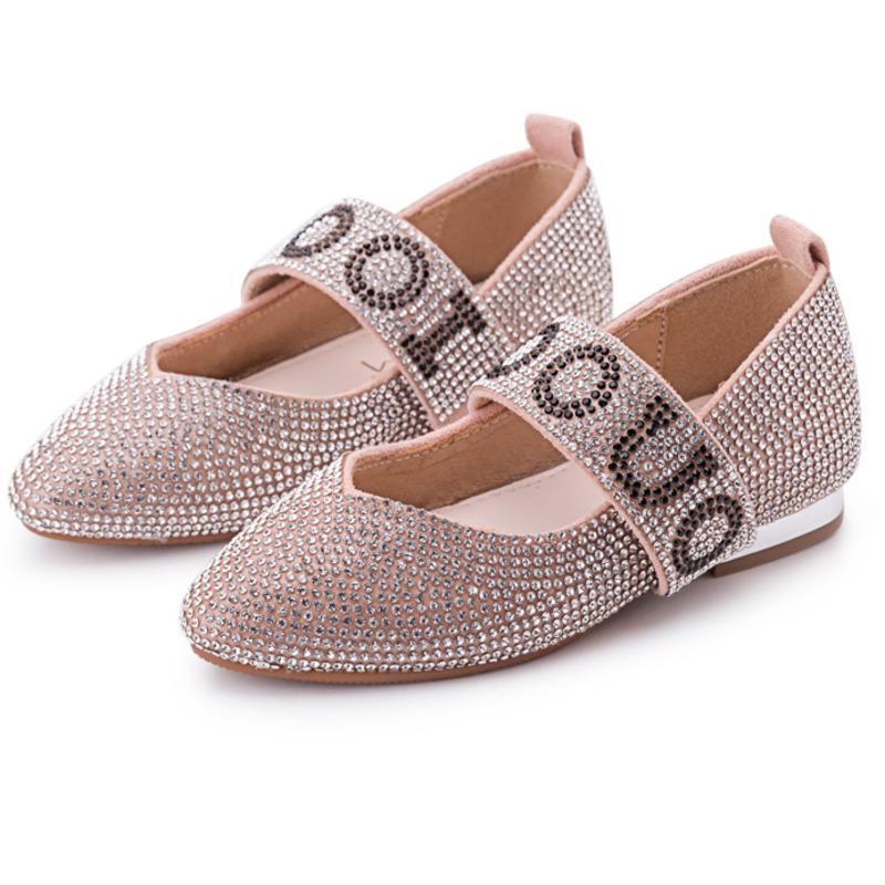 30d7cf9309182 Acheter 2018 Automne Enfants Chaussures De Fête De Mode Bébé Fille Marque  Strass Mary Jane Toddler Marque Plat Noir GM2119 De  60.92 Du Caishen018