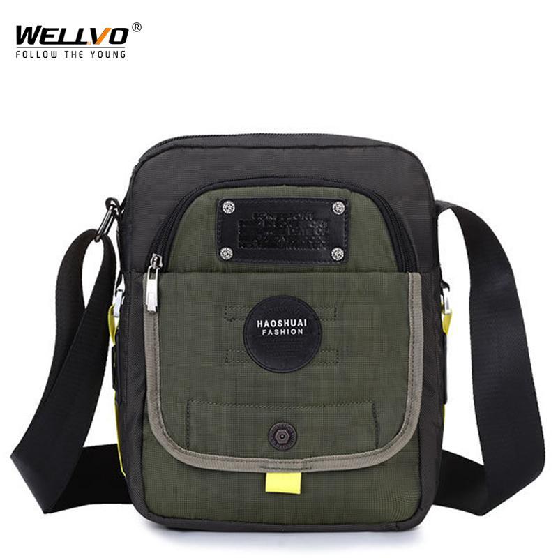 12e3bdaa03 Waterproof Nylon Men Single Shoulder Messenger Bag Belt Pack Purse ...