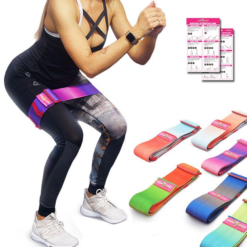 Yoga Bright 1pc 1.2m Elastic Yoga Pilates Rubber Stretch Exercise Band Arm Leg Back Fitness