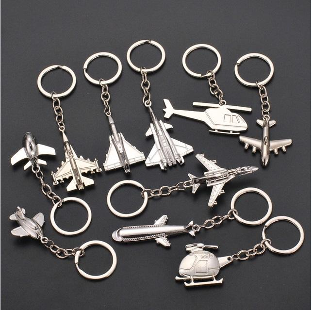New 3d High Grade Helicopter airliner Combat aircraft airplane keychain Women Bag Pendent Key rings Jewelry Men Car Keyring jewelry