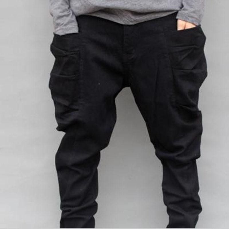Acquista Pantaloni Lunghi Baggy Autunno Autunnali Plus Size 6XL Pantaloni  Harem Casual Tascabili Da Uomo Neri Pantaloni Larghi Invernali Uomo Grasso  Piedi ... e665f3cee4e2