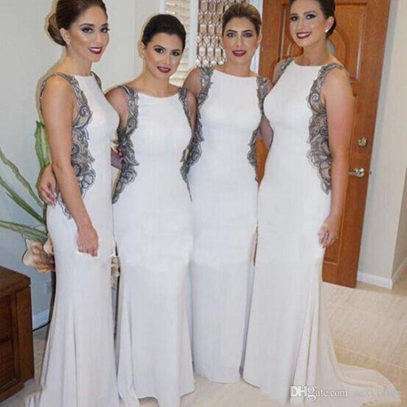 Cheap Light Grey Long Sleeve Bridesmaid Dresses Discount Modest Junior  Bridesmaids Dresses b8072da0ab50