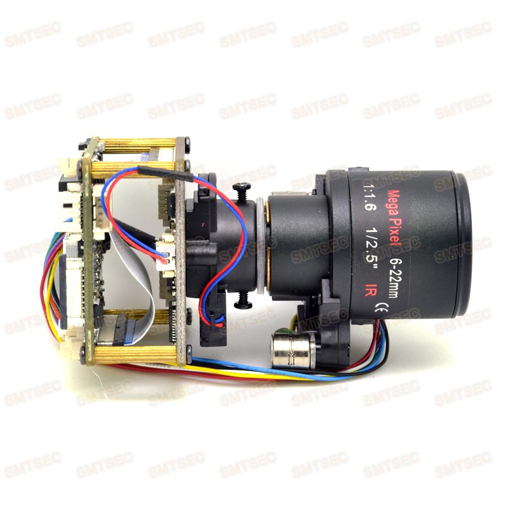 6-22mm Auto Focus Zoom WDR 3MP IP Camera Module Low Light Sony IMX123 New CCTV Smart Security PCB Main Board SIP-E123DML-0622