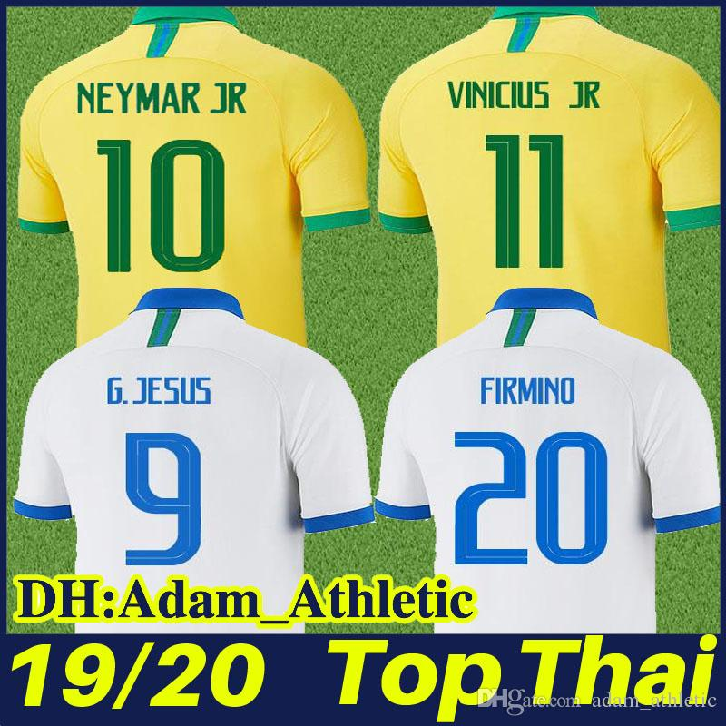 sports shoes 8cc4e 06661 19/20 Brazil soccer jerseys G.JESUS P.COUTINHO FIRMINO yellow football  shirt CASEMIRO VINICIUS JR white football jersey Brasil team uniform