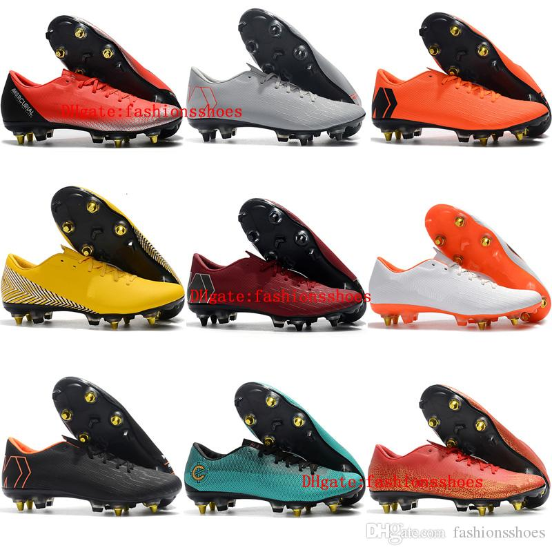 new arrival 9cad3 7ac16 2019 mens soccer shoes Mercurial Vapor XII PRO SG soccer cleats Mercurial  Superfly 360 outdoor football boots scarpe calcio cheap