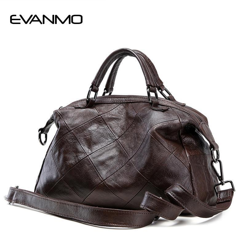 b9693ec1d97 New Soft 100% Genuine Leather Women Handbag Luxury Designer Women Tote Bag  Brand Crossbody Bag Large Capacity Lady Daily Handbag