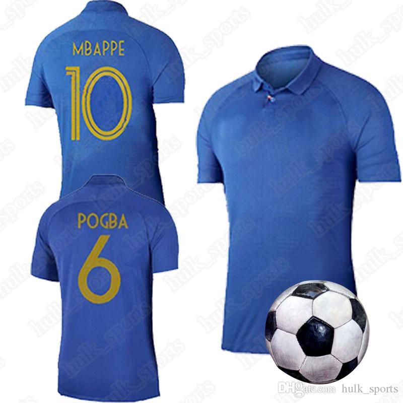 hot sale online 6e206 713d0 France Centenary anniversary jersey edition 1919-2019 soccer jersey  GRIEZMANN MBAPPE GIROUD kante ZIDANE football shirts 2019