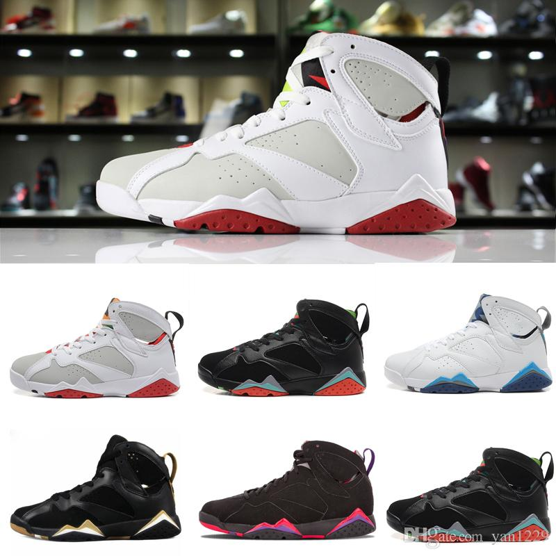 2da1732a75bfd9 2019 7 Basketball Shoes Mens Sneaker 7s VII Purple UNC Bordeaux Olympic  Panton Pure Money Nothing Raptor Zapatos Trainer Sport Shoe Man From  Yan1229