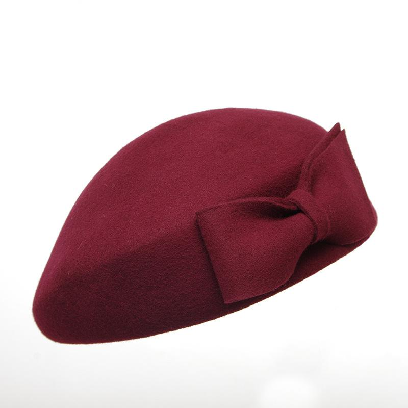 Women Luxury Designer Hats New Painter Hat Female Wool Hat Flight Attendant Hat Beret Wool Autumn Winter Warm Fashion Cap