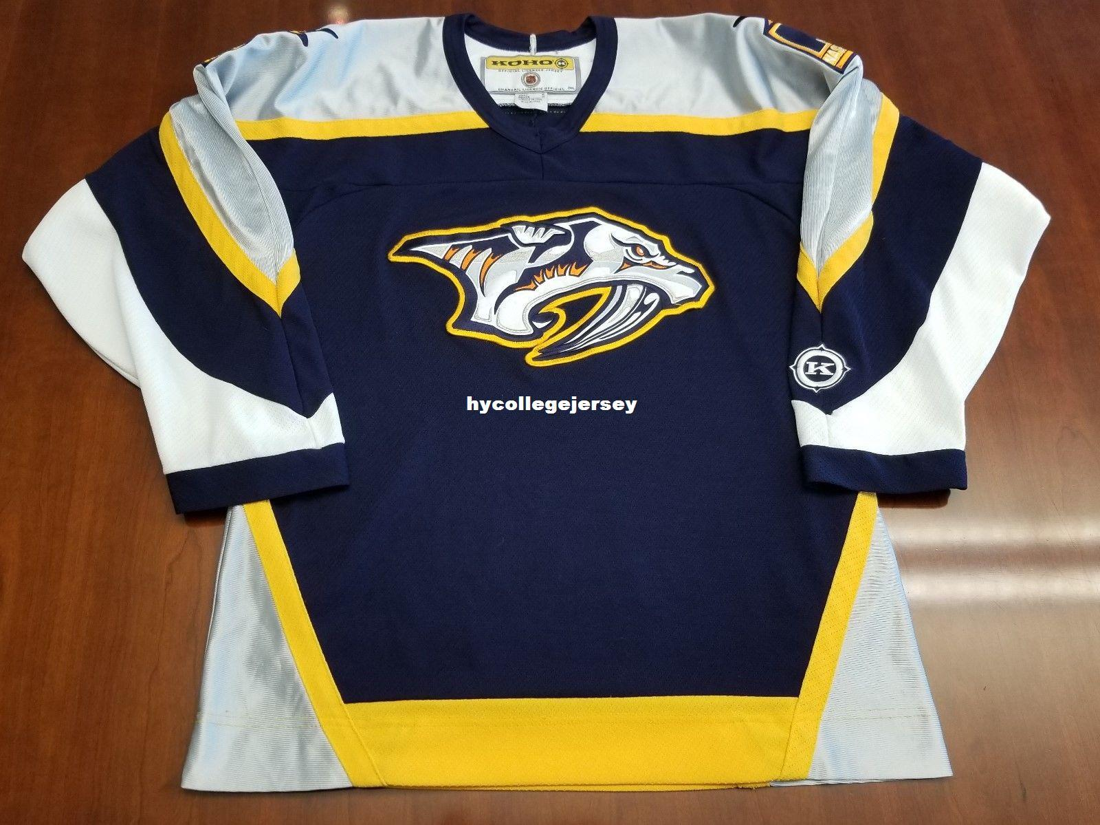 2019 Wholesale Custom Nashville Predators Vintage Koho Cheap Hockey Jersey  Blue Preds Mens Retro Jerseys From Hycollegejersey e5c300519