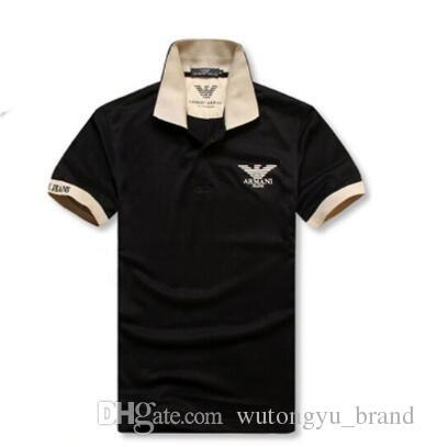 2018 Men S Short Sleeves Polo Aj Designer Shirt T Shirt Embroidered