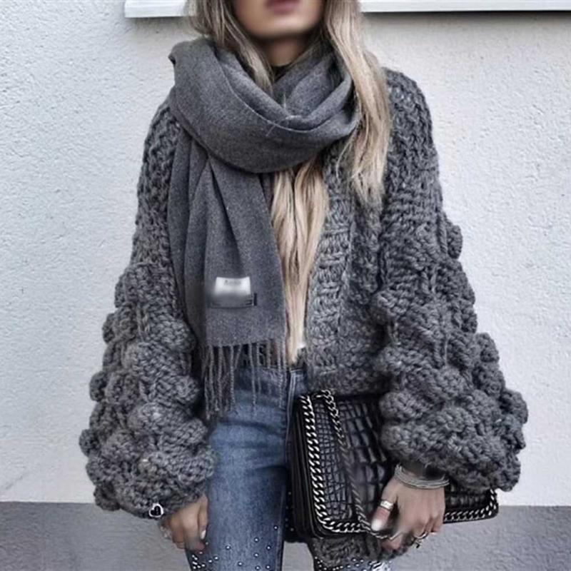 купить оптом женский кардиган женский свитер ленивый 3d Ballsfloral