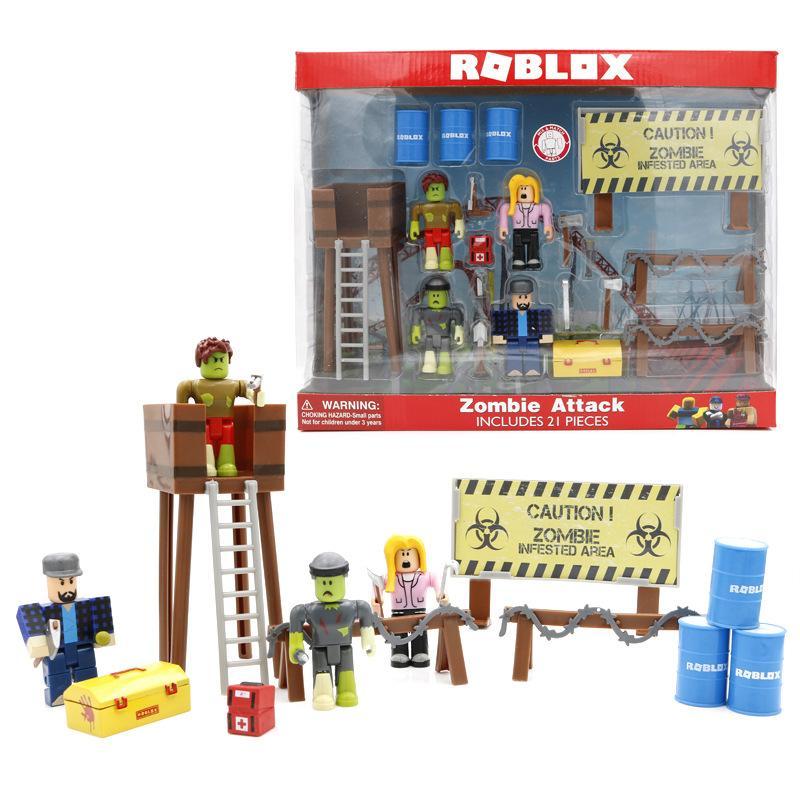 2019 2019 Roblox Building Blocks Zombie Action Figures Plastic Pvc