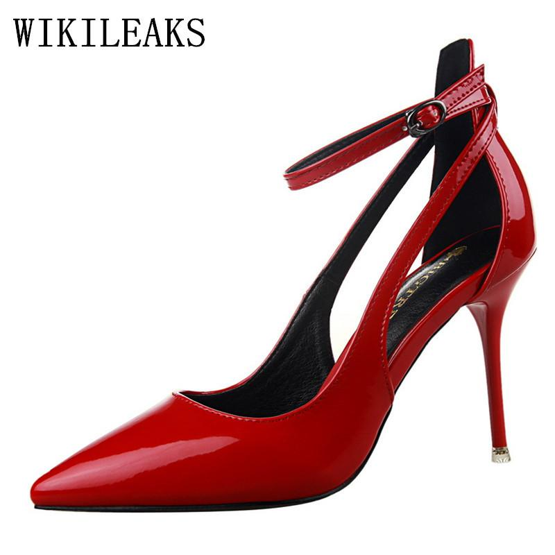 Dress Designer Shoes Women Luxury 2019 Extreme High Heels Valentine Lolita Wedding  Shoes Bride Bigtree Mary Jane Shoes Tacones Mujer Brown Dress Shoes ... c1c725c42d73