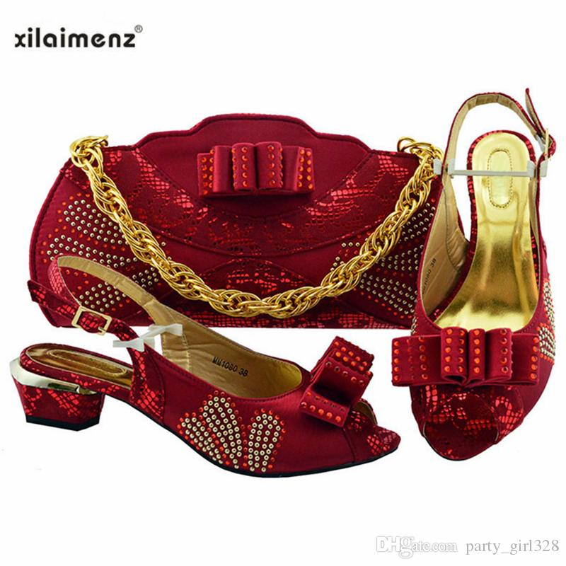2019 Estilo Para Nueva Fiesta Juego A En Conjunto Vino Y Mujer De Africano Bolsos Llegada Con Del Africanos Color Zapatos TcFJ1lK