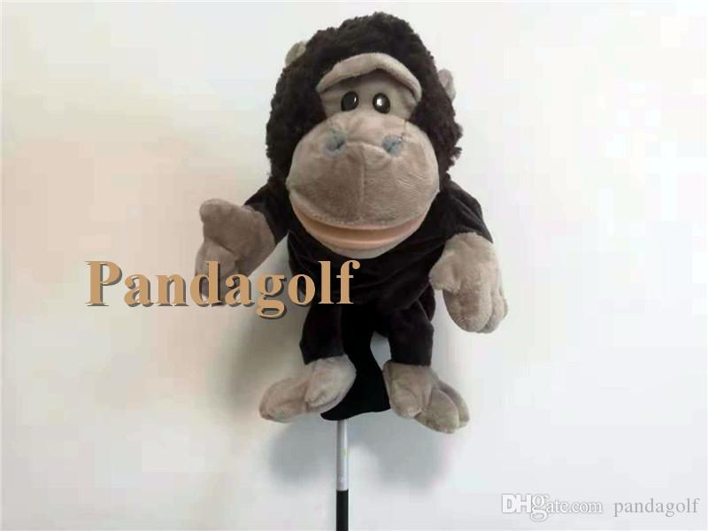 New Gorilla golf driver headcover plush protect #1 golf head black color primate lovely cartoon animal club headcover