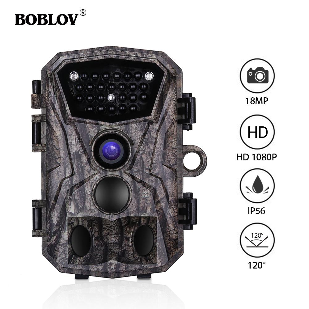 196deda58d3 BOBLOV H883 18MP 1080P Hunting Trail Camera 24 Infrared LEDs 120 ...