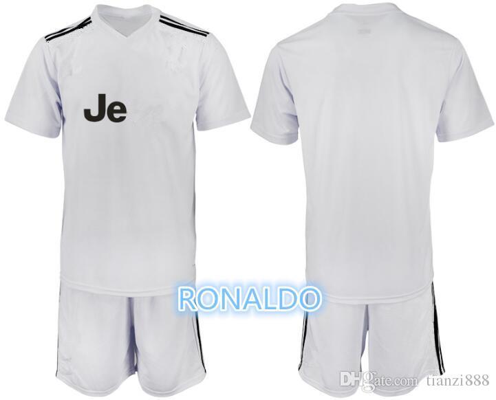 51ef2485e51 2019 1819 Men Soccer Jersey White Kit 18 19  7 RONALDO White Soccer Jerseys  2019  10 DYBALA Soccer Shirts Uniform Jersey+Shorts From Tianzi888