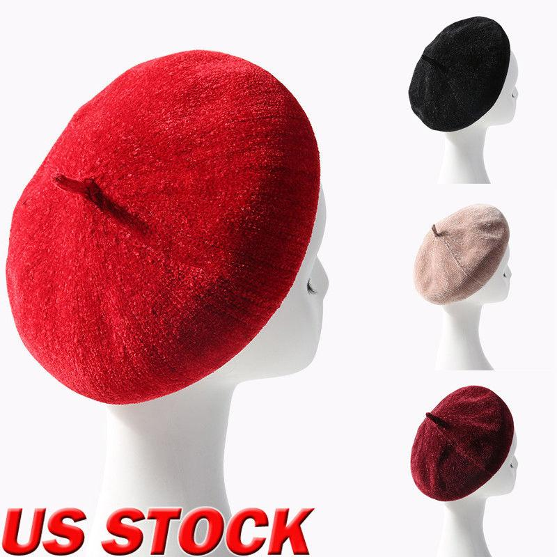 bdf308f8cfb31 2019 4 Style Women Solid Wool Beret French Artist Warm Beanie Hat Winter Ski  Cap New Winter French Beret From Watchoutbaby, $34.86 | DHgate.Com