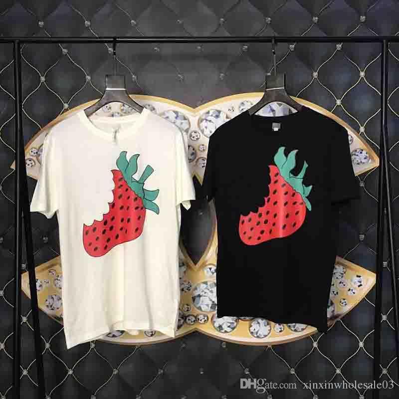 Marque Fresa Ropa De Para Manga Marca Mujer Hombre G Jumper Camisetas Diseñador Camisas Lusso Corta Luxe Moda Impresa Letra 19ss kXiZuOPT