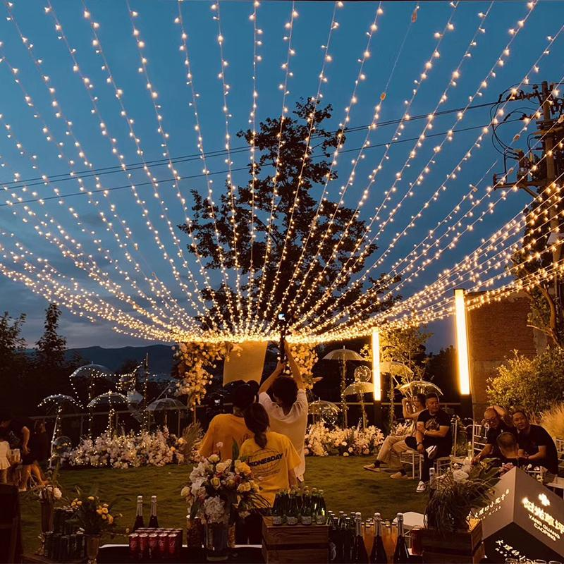 New 10m 100 Led String Garland Christmas Tree Fairy Lights Connect Waterproof Home Garden Party Outdoor Festival Decoration Ambient Lights