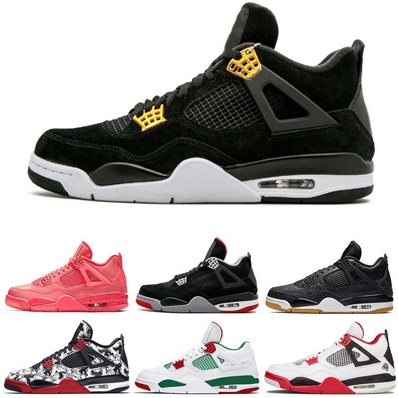 6b40178e903d82 2019 4s Raptors Tattoo Basketball Men Shoes 4 Travis Scott Cactus Jack Pure  Money Pizzeria Black Cat Gum Sports Shoes Basketball Sneakers From  Outdoor13