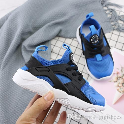 best website afcc1 1ecc2 High Quality Kids Racers Air Huarache 5 Sneakers Shoes For Boys Girl  Authentic All Children Trainers Huaraches Sport Running Shoes