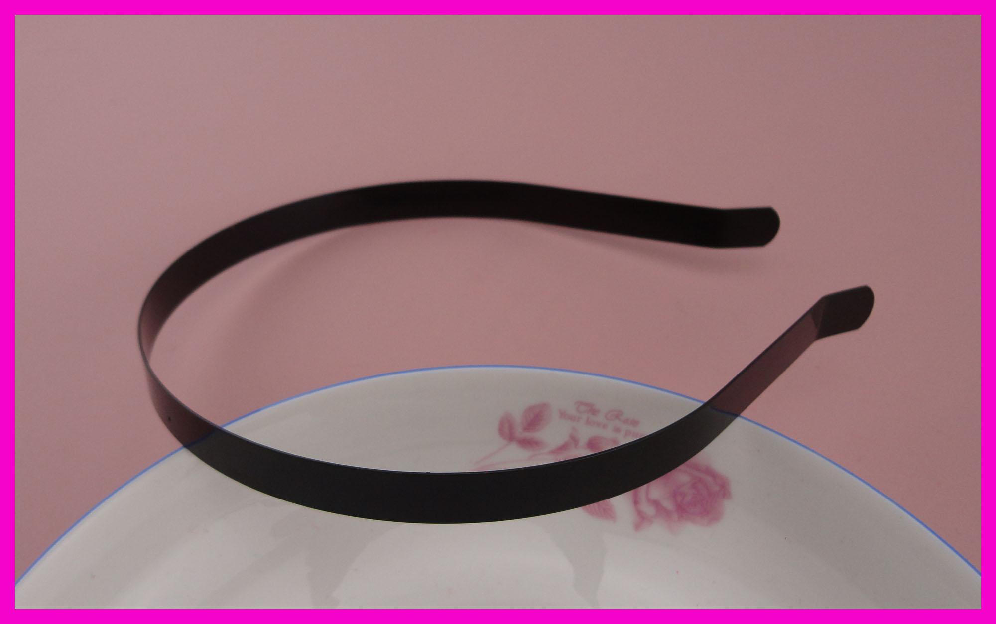 2019 10mm Black Plain Metal Hair Headbands With Bend End At Nickle Free And  Lead Free Quality cc6b077ad2c