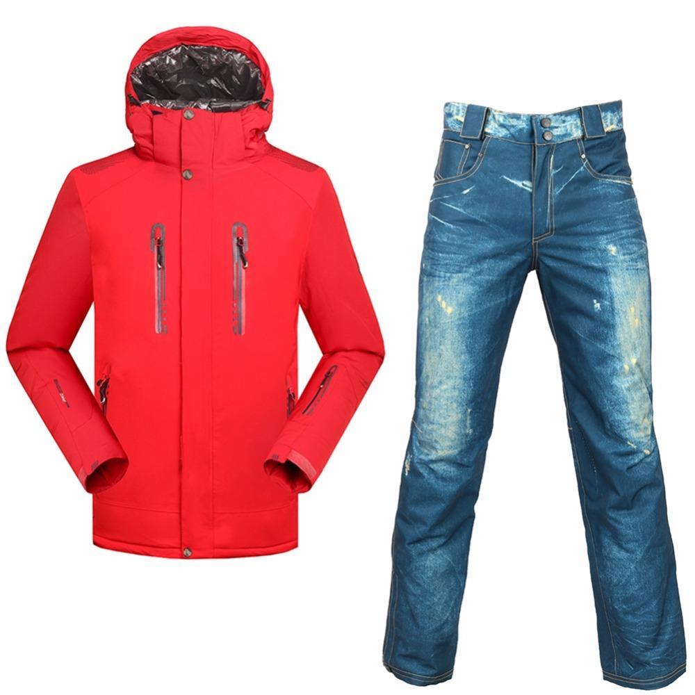 842c3a11eaa520 SAENSHING costumes de snowboard hommes combinaison de ski d hiver  Imperméable 10000 Super Warm neige veste de ski pantalon de snowboard en  plein air ...