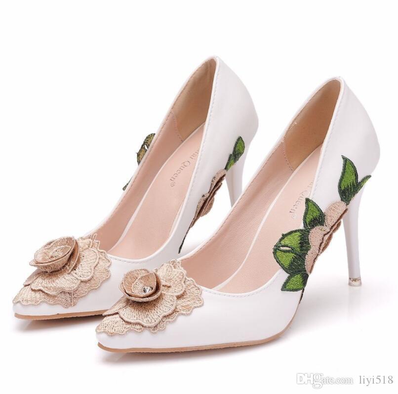 eaea0b8a3da5be Woman High Heels Ladies Shoes 9CM Heels Women Dress Shoes Lace Flower Sexy Wedding  Shoes Dress Shoes High Heel Pumps Online with  55.09 Pair on Liyi518 s ...