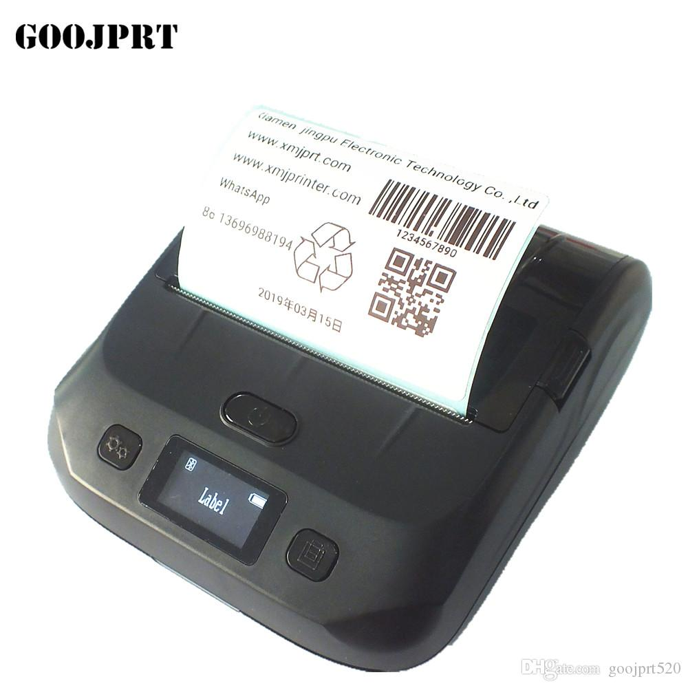 Thermal Printer Label Receipt Printer 80mm Portable Mini Mobile Printer  Bluetooth Label Maker Support POS Android IOS