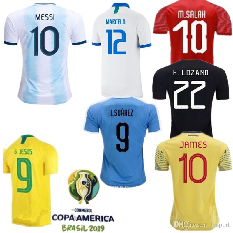 94091b4bd 2019 2019 Copa America Soccer Jerseys Argentina Messi Brasil Colombia James  CHICHARITO Uruguay L.Suarez Home Away Football Shirt From Lvsport