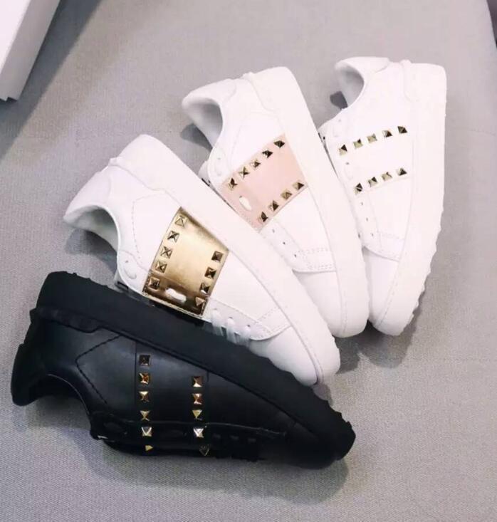 promo code 34d60 17655 Beste Qualität Weiß Mode Designer Schuhe Herren Frauen Leder Casual Open  Low Sneakers Mit Staubbeutel Größe 35-46 11