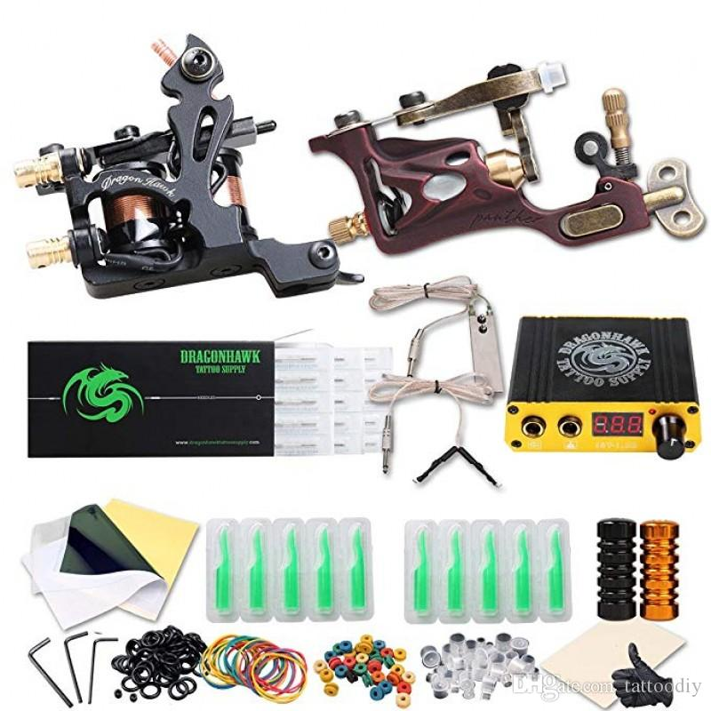 3bdca8a562935 Complete Tattoo Kit Coil Machine Rotary Machine Mini Power Supply ...