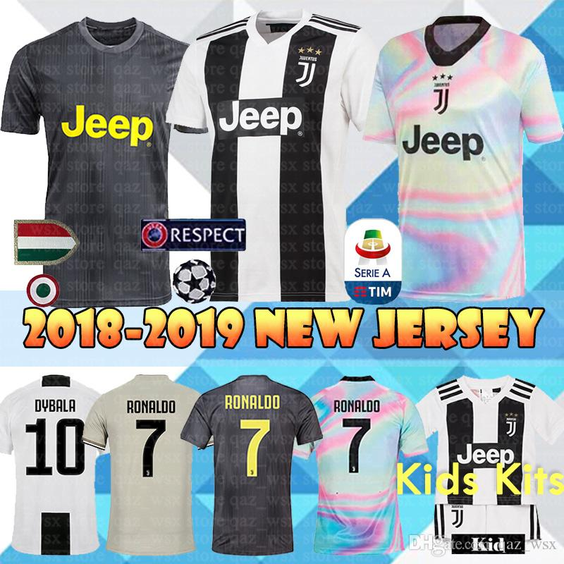 77db7413ce7 2019 JUVENTUS Soccer Jerseys 18 19 JUVE Home Away Top Sale 7 RONALDO ...