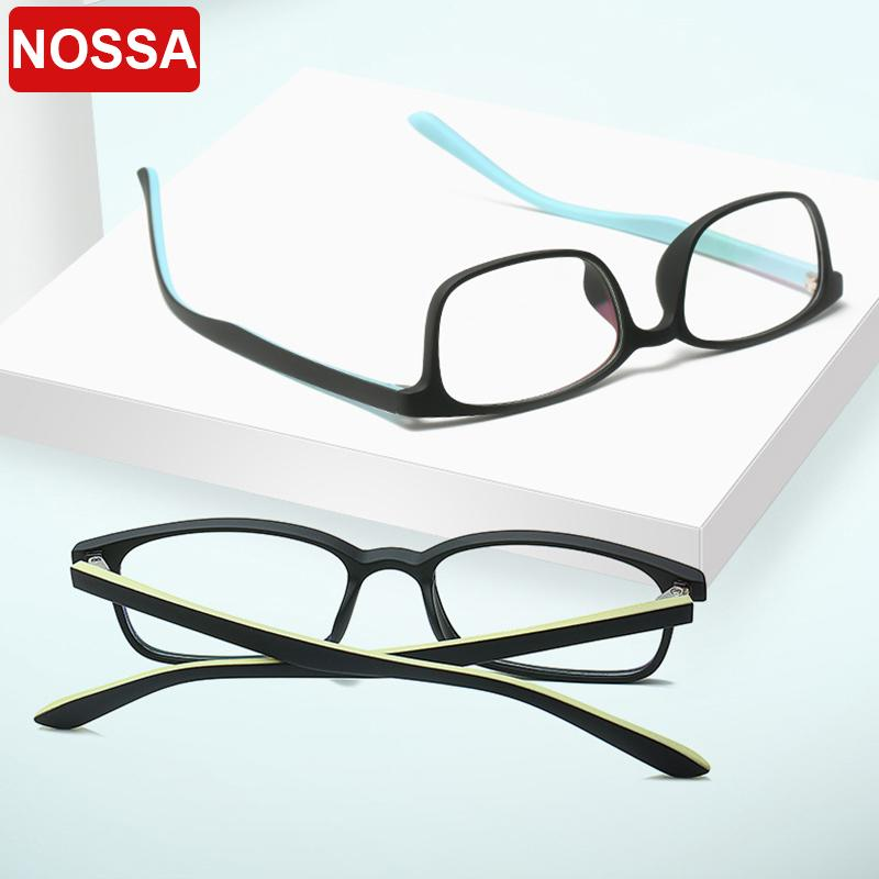New TR90 full frame anti-blue light flat glasses art unisex no degree computer goggles can be equipped with myopia glasses frame