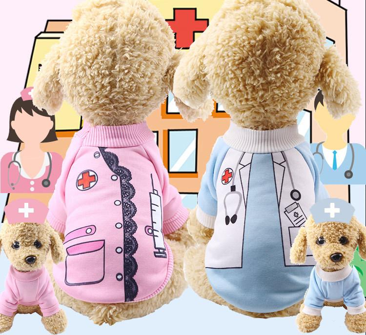 Spring Autumn Winter Uniform Dog Clothes Pets Clothes Doctor Nurse Dresses For Dogs Cats Pets Cotumes Wholesale