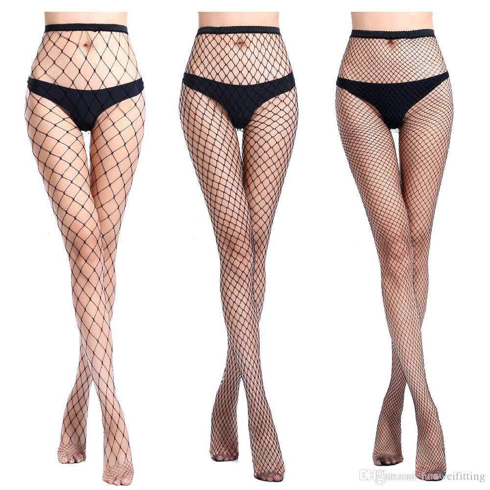 9d76d26b6515c 2019 2019 Hollow Out Sexy Pantyhose Female Mesh Black White Women Tights  Stocking Slim Big Fishnet Stockings Club Party Hosiery From Huaweifitting,  ...