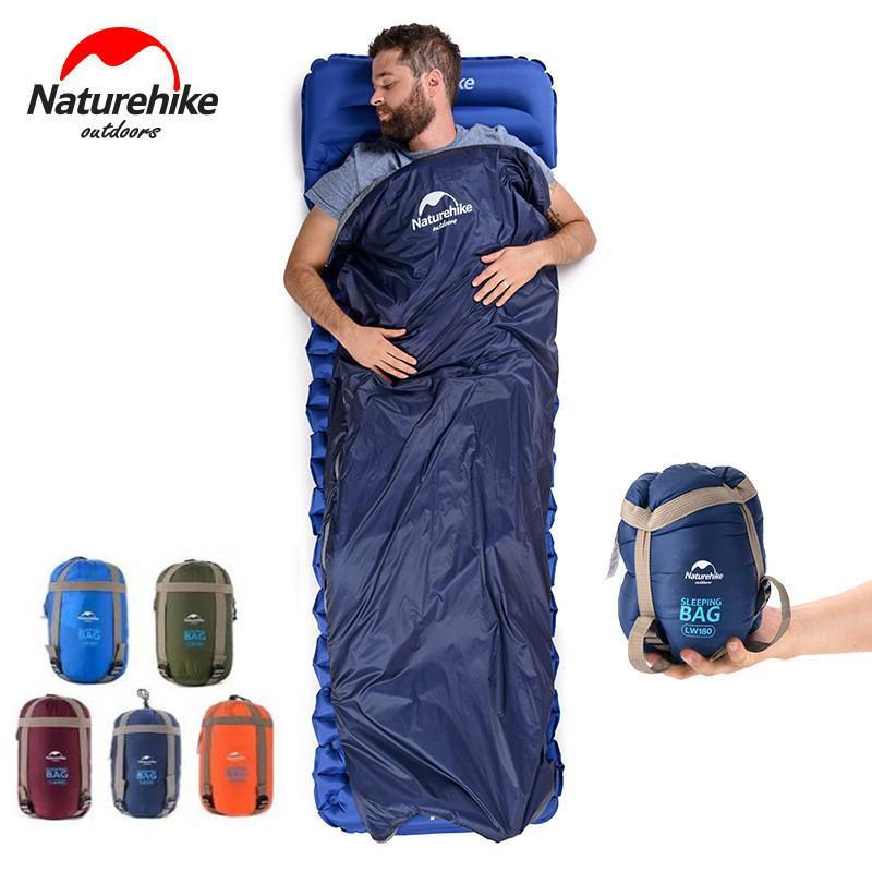 5 Colors 190*75cm Outdoor Portable Envelope Sleeping Bags Travel Bag Hiking Camping Equipment Outdoor Gear Sleeping Pads CCA11712 20pcs