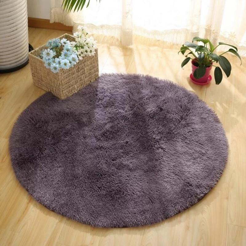 Solid Color Round Carpet Computer Chair Carpets Dome Of Mattress