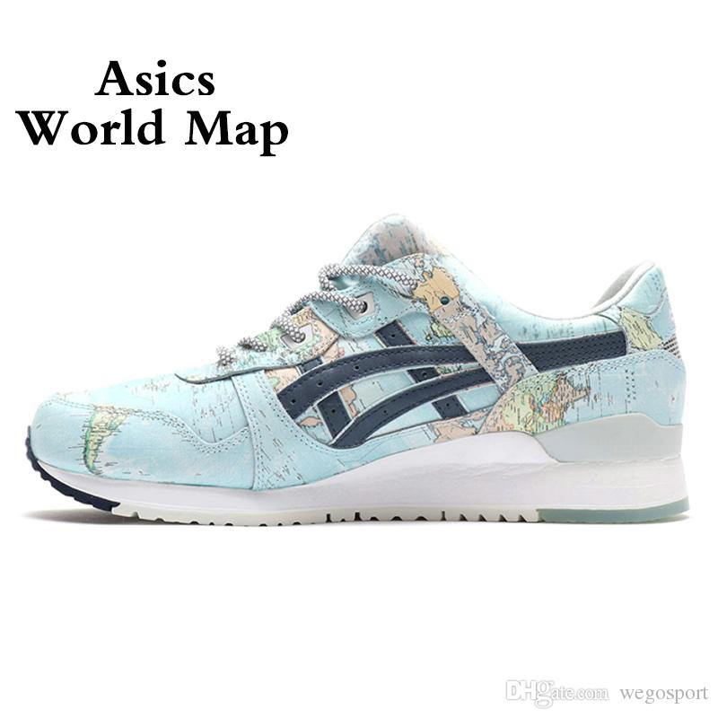 brand new 74e96 109b5 2019 Asics x Atoms GEL-LYTE III WORLD MAP New Men Women Running Shoes Best  Quality Fashion Designer Sport Sneakers 36-44