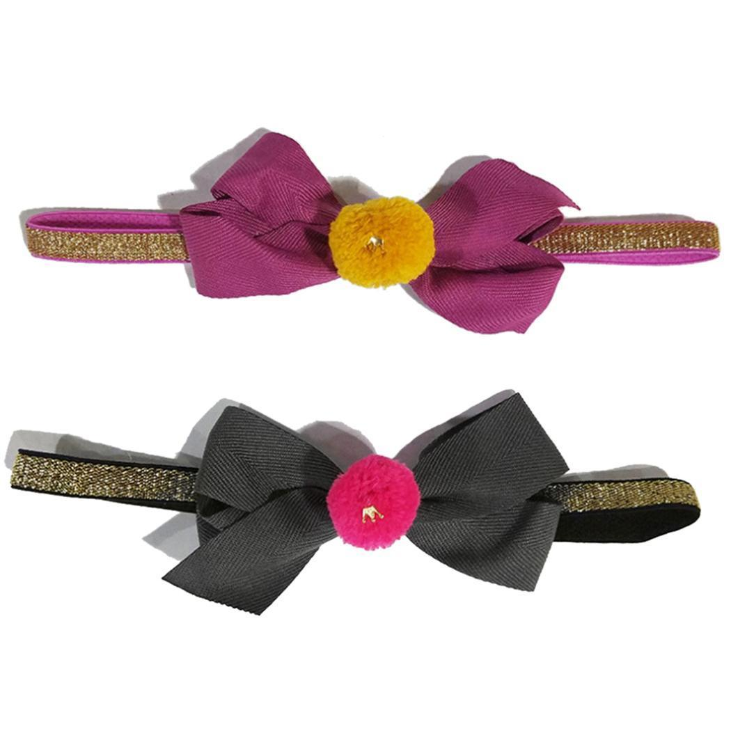 Fashion New Baby Girls Kids Toddler Cute Bow Pompom Hairband Stretch Headband New Fashion Clothing, Shoes & Accessories