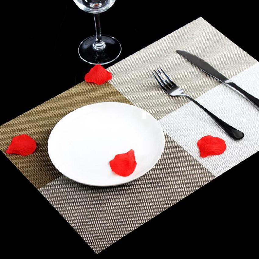 Placemats Dining Tables Place Color Block Table Mats Pad Tableware