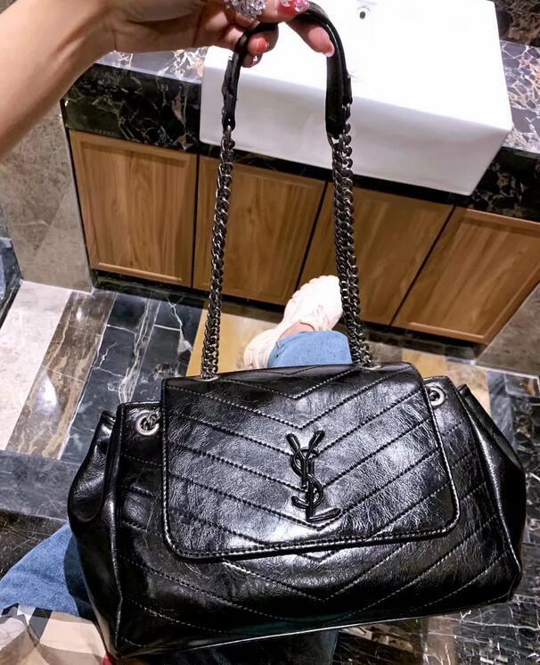 590d3de512 AAAA Explosion Models Large Retro Letter Buckle Chain Shoulder Bag Women  Fashion Multi Back Designer Handbag Multi Capacity Catwalk Bags Reusable  Grocery ...