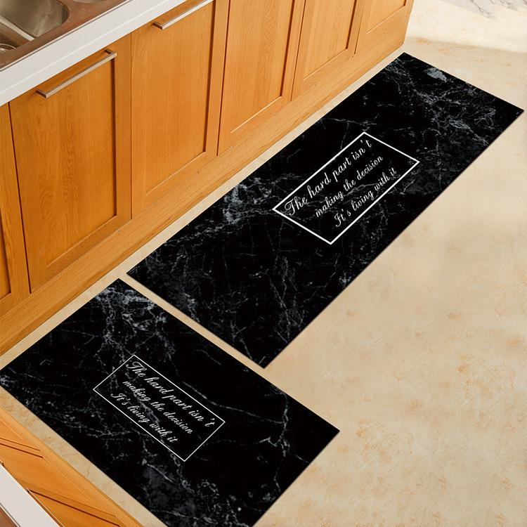 Outstanding New Floor Mats Black White Marble Print Bathroom Kitchen Carpet House Doormat For Living Room Anti Slip Rug Cama Mesa E Banho Interior Design Ideas Pimpapslepicentreinfo
