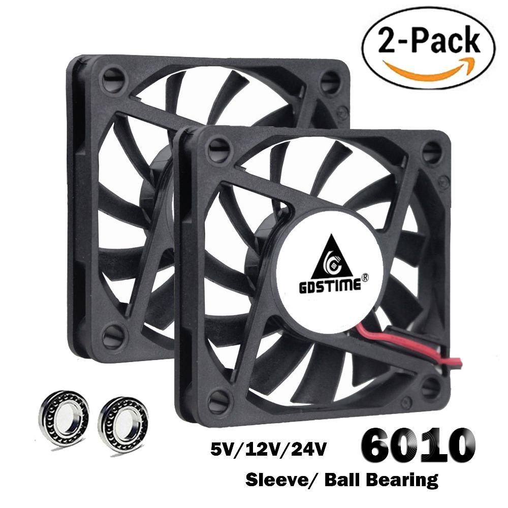 Fan Cooling Fans Cooling 2 Pcs Gdstime 60mm 5 12V 24V Brushless USB 2PIN 3PIN DC Cooler Fan 60x60x10mm 6010 6cm For